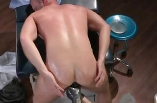 Ass fisting gay Brian Bonds stops in to watch his doctor about his