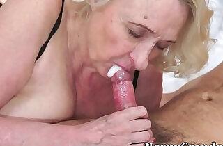 Old granny gives hot blowjob