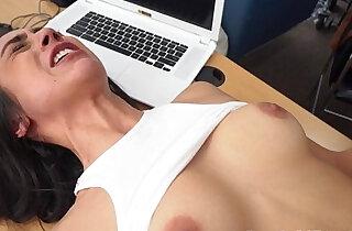 Casting slut fucked hard and deep on office desk