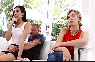 Teen Daughter Malina Mars And Real Daughter Compete For Dad On Fathers Day