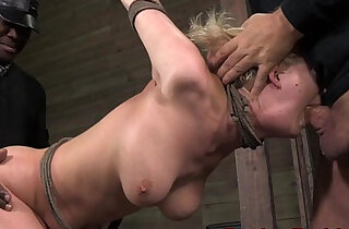 BDSM slut Cherry Torn punished roughly