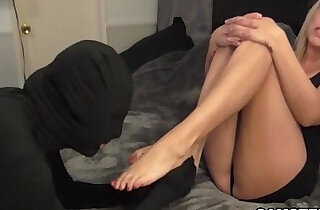 Pretty feet with cum after footjob