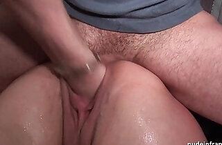 French redhead DP ass pounded fisted and foot fucked very hard threesome