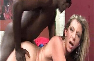 Big titted blonde fucked by black