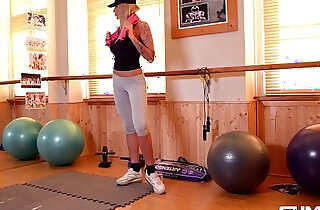 Fitness vixen Kayla Green trains hard then Fucks Harder