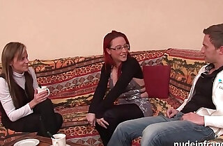 FFM Pretty amateur milf hard style anal penetration for her casting couch
