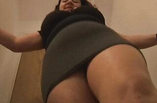 Big tits mature in crotchless pantyhose masturbates
