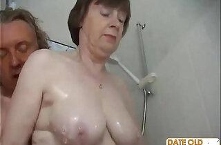 Old couple have hardcore fucking action