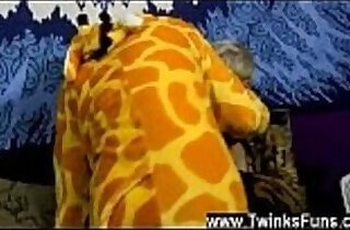 Amazing gay scene We join the duo dressed up in their finest Giraffe