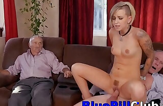 Hard Bodied Teen slut Sucks Old Dudes Cocks