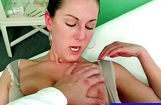 Faux doctor fingering pussy