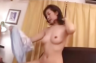 Old Japanese Mom Loves Her Sons Cock