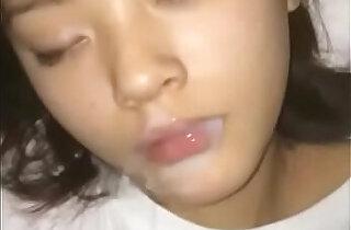 Cum on face asia cute lovely girl sleeping