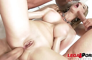 Busty babe Suzie Sun oiled up assfucked by studs