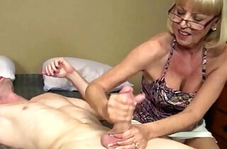 Mature granny getting cum blasted