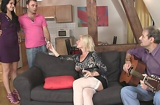 Sweetie gets into threesome by her BFs parents