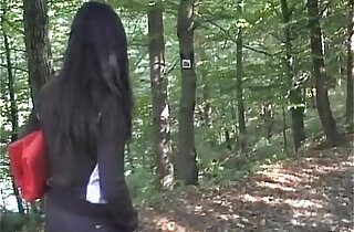 Video amateur sex with busty naughty girl fucking nude outdoor