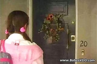 The hot babysitter gets seduced to teacher