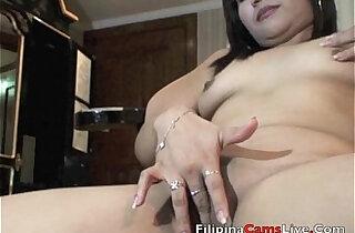 Mature Asian gets naked and masterbates