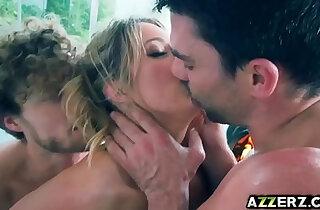 Sexy ass babe Candice Dare threesome fuck