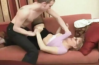 Russian shy mom is fucked by her son