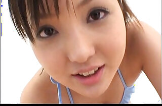 Sexy Japanese teen gently strokes and sucks cock