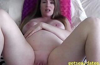 Pregnant mom masturbating to son